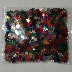 PKG OF MULTI-COLORED STARS